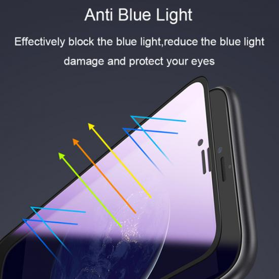 İPhone 11 Pro Max,İphone Xs Max 6.5 Anti Blue Light Full Kaplama Cam Ekran Koruyucu